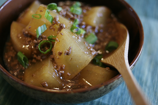 Braised Daikon with Beef