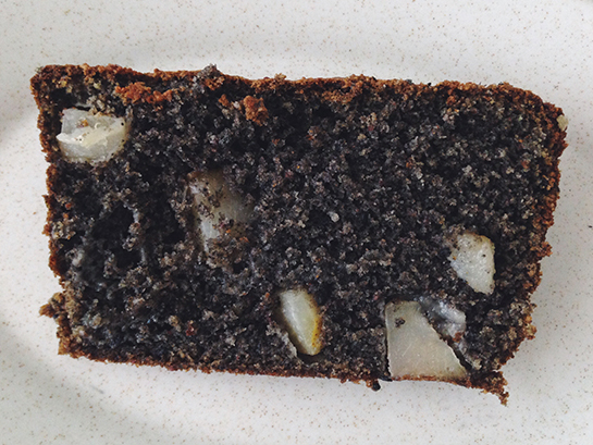 Black Sesame Pear Tea Cake